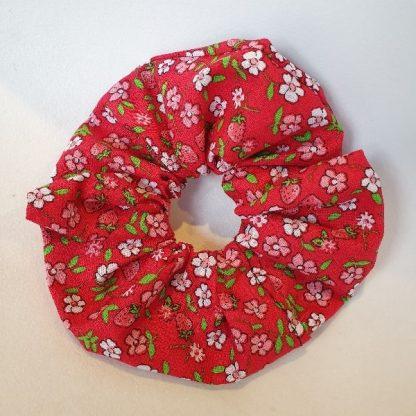 12 cm Red Floral Scrunchie