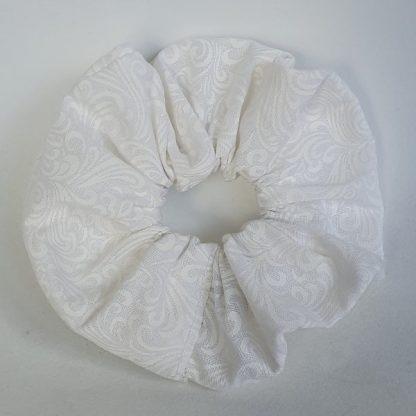 12 cm White Swirls Scrunchie
