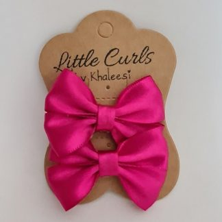 2.5 inch Handmade Pink Bows (Twin Pack)