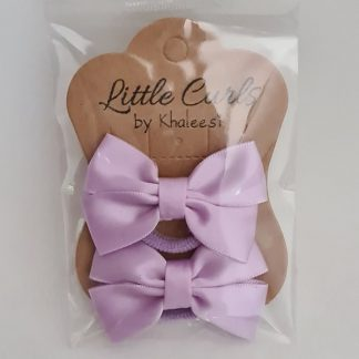 2.5 inch Handmade Violet Bows (Twin Pack)