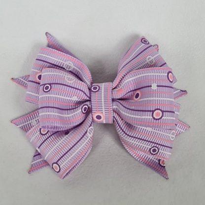 3 inch Handmade Violet Pattern Pinwheel Bow