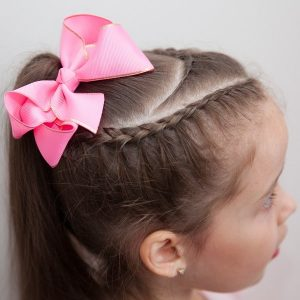4 inch Hot Pink Bow with Gold Trim Khaleesi