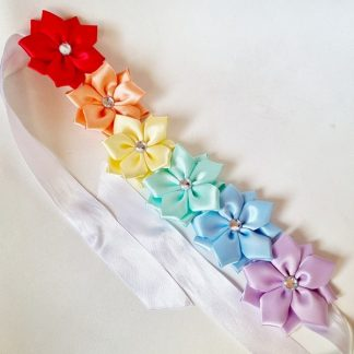6 Flower Multi-Colour Bun Wrap