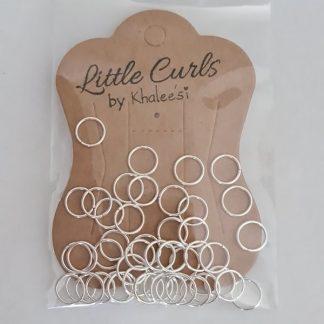 8 mm Silver Braid Rings