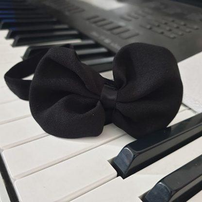 Chiffon Headband Bow Black
