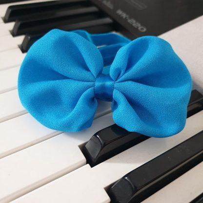 Chiffon Headband Bow Blue
