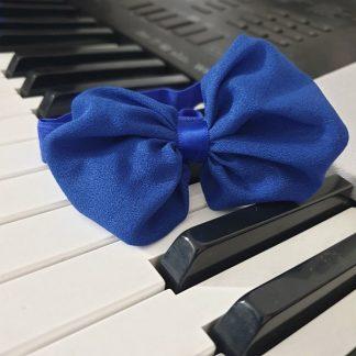 Chiffon Headband Bow Dark Blue Navy Blue