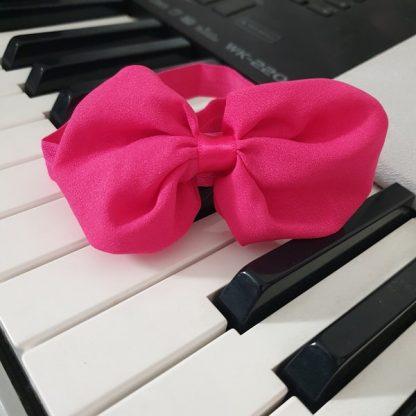 Chiffon Headband Bow Hot Pink