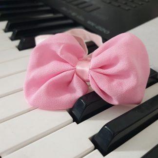 Chiffon Headband Bow Pink