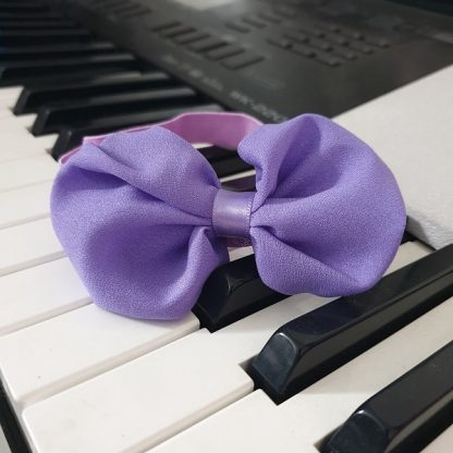 Chiffon Headband Bow Purple