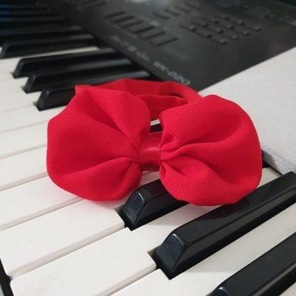 Chiffon Headband Bow Red