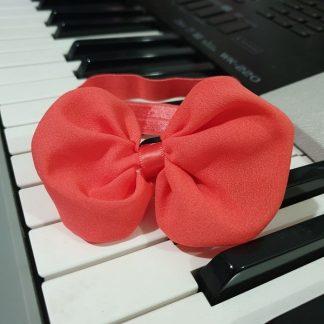 Chiffon Headband Bow Watermelon Light Red