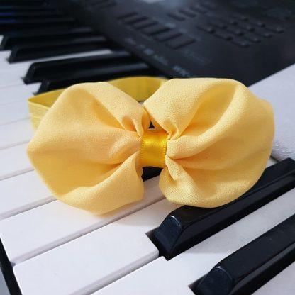 Chiffon Headband Bow Yellow