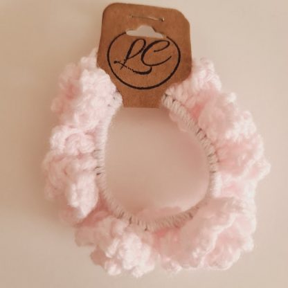 Handmade Crochet Pink Scrunchie