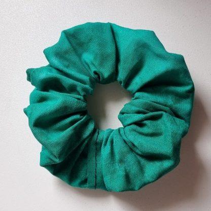 Handmade Green Scrunchie