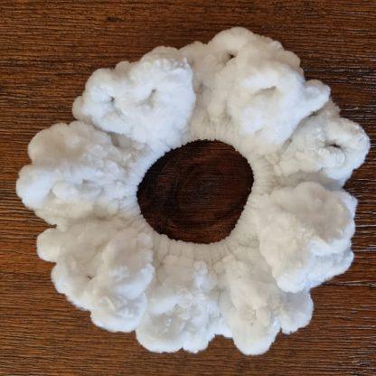 Handmade Velvet White Scrunchie