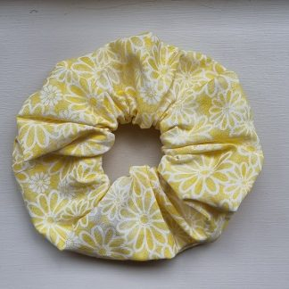 Handmade Yellow Floral Scrunchie