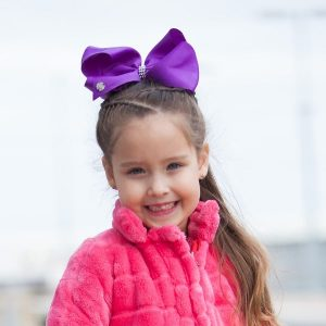 Khaleesi Little Curls Purple JoJo Bow 2