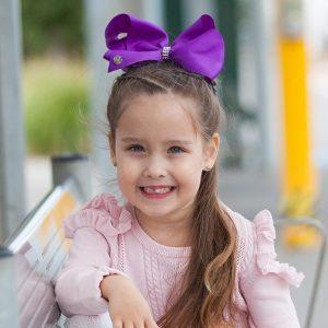 Khaleesi Little Curls Purple JoJo Bow