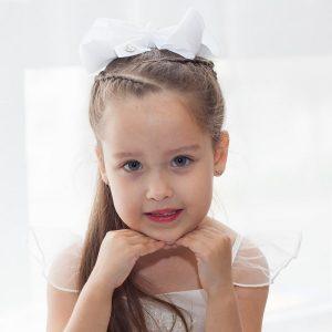 Khaleesi Little Curls White JoJo Bow 2