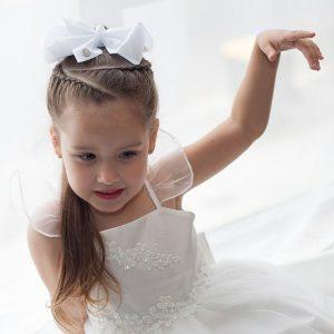 Khaleesi Little Curls White JoJo Bow