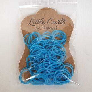 Small Elastic Hair Ties Blue