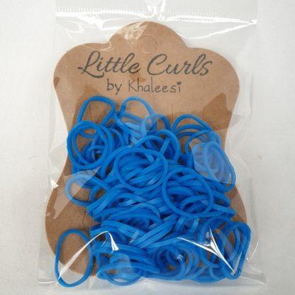 Small Elastic Hair Ties Dark Blue