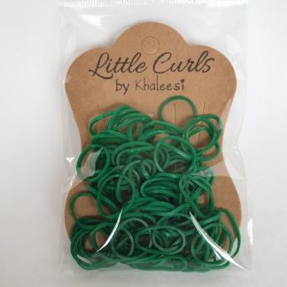 Small Elastic Hair Ties Dark Green