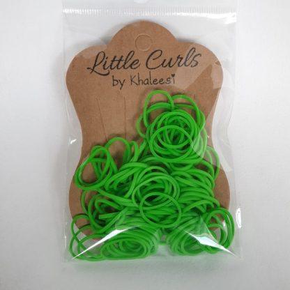 Small Elastic Hair Ties Green