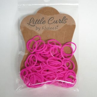 Small Elastic Hair Ties Hot Pink