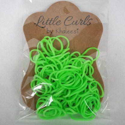 Small Elastic Hair Ties Neon Green