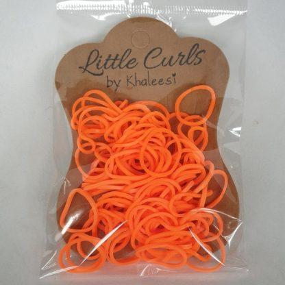 Small Elastic Hair Ties Neon Orange