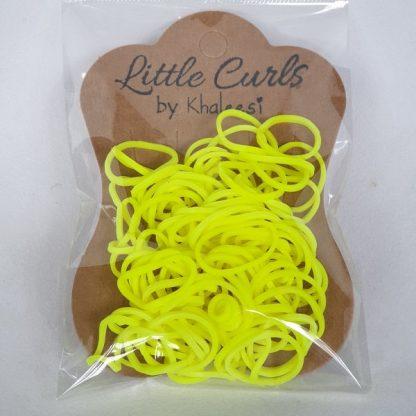 Small Elastic Hair Ties Neon Yellow