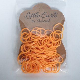 Small Elastic Hair Ties Orange