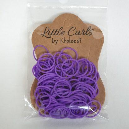Small Elastic Hair Ties Purple