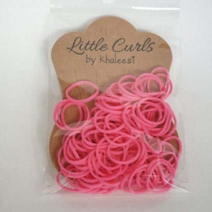 Small Elastic Hair Ties Rose Pink
