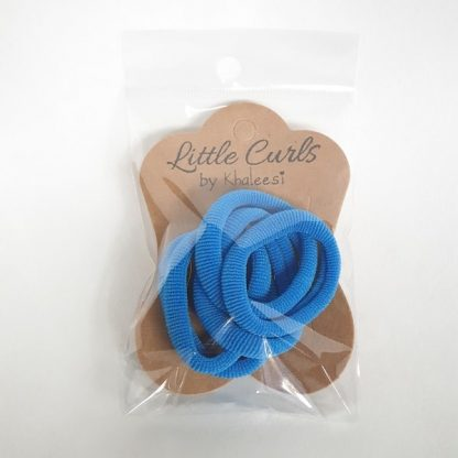 Thick Soft Hair Ties Blue
