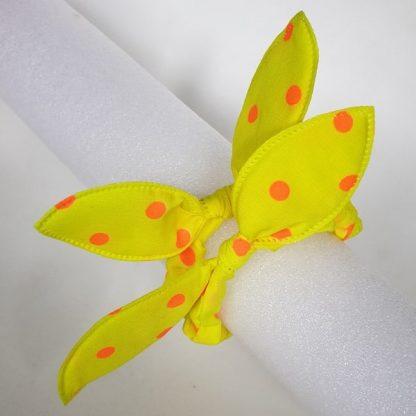 Thin Yellow Scrunchies